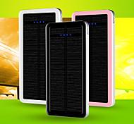 DS 12800mAh cargador solar con múltiples salidas Batttery externa para dispositivos móviles Negro