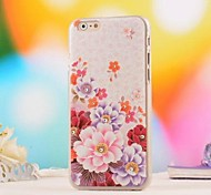 Fashion Rhinestone Relief PC Hard Cover for iPhone 6 Plus