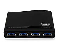 USB3.0-Hubs 1 x 4 USB3.0-Schnittstelle PC 4-Ports Spalter Hubs mit Netz