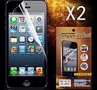 Protector de pantalla hd protector para el iphone 5 / 5s (2pcs)