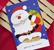 Glitter Powder Christma Cards with Christmas Hat