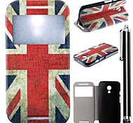 The Union Jack Pattern PU Leather Full Body Case with Stand and A Stylus Touch Pen for Motorola G2