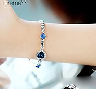 cristalli lureme®fashion braccialetto a forma di cuore