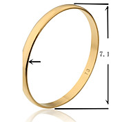 7.1cm Width TB Smooth Gold Plated Golden Bangle L Size(1 Piece)