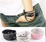 personnalité exagérée cadeau exquis multi-couche bracelet en cuir
