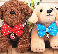 collane colorate caramelle con campana e farfallino per cani e gatti