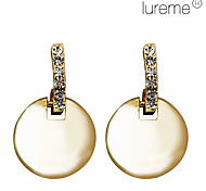 Rhinestone Decorated Strip and Circular Pendant Earrings (Assorted Colors)
