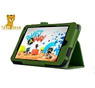 """timido orso ™ di caso del basamento della copertura del cuoio del litchi per HP flusso 7 7 """"tablet"""