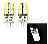 G4 3W 63 SMD 3014 250 LM Warm White / Cool White LED Bi-pin Lights V