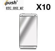 Protector de pantalla de espejo de alta transparencia para una htc (m7) (10 piezas)