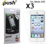 protetor de tela LCD HD de alta transparência para iPhone 5 / 5s (3 peças)