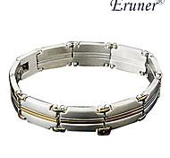 Eruner®Men's Golden Stripe Titanium Steel Bracelet