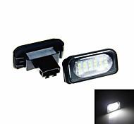 4w auto voiture 18x3528smd blanc a mené la lampe de lumière de plaque d'immatriculation pour w203 4d classe berline c w203 2001-2007 de amg