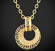 u7® colar de pingente de ouro 18k platina ouro verdadeiro banhado austríaco strass pingente de colar