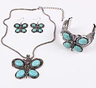 Lureme® Ethnic Fashion Individuality Tophus  Butterfly  Alloy Necklace Earrings Bracelet Suit(3 Pcs A Set)