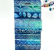 desenho colorido ou caso de corpo inteiro padrão de couro pu com slot para cartão e Suporte para iPhone 5 / 5s