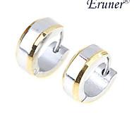 acero de titanio bordes de oro pendiente de plata de eruner®men