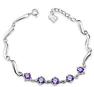 925 Sterling Silver Five Diamond Indirect Bracelet