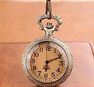 Men's Round Case Alloy Quartz Vintage Style Pocket Watch