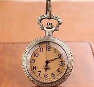 Men's Round Case Alloy Quartz Vintage Style Pocket Watch Cool Watch Unique Watch