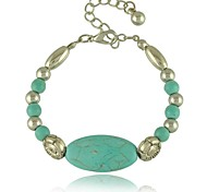 European and American Bohemian style Beaded Turquoise Bracelet