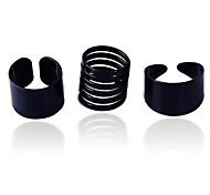 glänzend schwarz dreiteiligen Ring