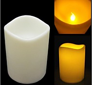 7.5CM Diameter Flicker Flameless LED Paraffin Wax Candle for Party Decoration - 10CM