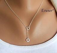 Eruner® Fashion (Double circle) Alloy Tiny Pendant Necklace