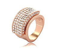 Fashion Rose Gold Rhinestone Rings Random Color