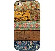 Holzmaserung Blumenmuster zurück Fall für iPhone 4 / 4s