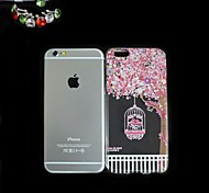 Birdcage Pattern Thin Transparent TPU Back Cover Case With The Dustproof Plug for iPhone 6