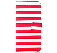 Stripe Pattern Wallet Leather Case  for iPhone 6 (Assorted Colors)