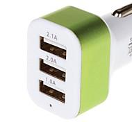 carga serie 5.1a 3 USB adaptador de cargador de coche