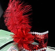 Women's Fashion Feather Costume Party Mask(Random Color)