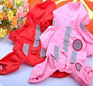 Fashion Safe Reflect Light Raincoat Clothes for Pet Dog(Assorted Colours&Sizes)