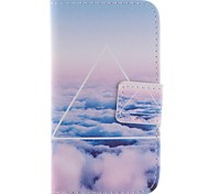 Clouds PU Leather Full Body Case with Stand and Card Slot for Samsung Galaxy S3 Mini I8190