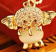 Слон ожерелье кристалла женщин