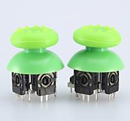 2pcs Replacement 3D Rocker Joystick Cap Shell Mushroom Caps for PS4 Wireless Controller