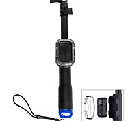 Retractable Remote Pole  Telescopic Monopod With Wifi RC Holder For GoPro Hero4 /3+/ 3-(30-70cm)