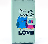 Owl You Need Love Pattern PU Leather Full Body Cover with Card Slot for Nokia Lumia N730
