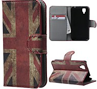 Retro Union Jack PU Leather Case Cover with Stand and Card Slot for Wiko Sunset