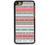 Personalized Phone Case - Pink Rhombus Design Metal Case for iPhone 5C