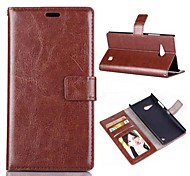 Oil Side Frame Model Design PU Leather Full Body Case with Card Slot for Nokia N730 (Assorted Colors)