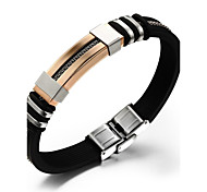 Cool Man Titanium Steel Gold-plated Bracelet Silicone