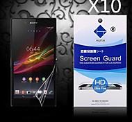 Protector de pantalla de alta definición con polvo absorbente para sony z1 l39h (10 piezas)
