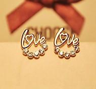 South Korea's Lovely LOVE Stud Earrings