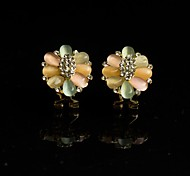 Fashion Zircon Rhinestone Glod Earring 1 pair(More Colors Available)