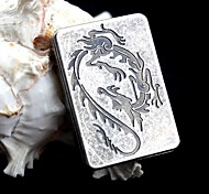 SHAYU Antique Silver USB Charging Cigar Lighter - Dragon