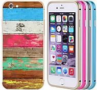 lacdo® colorido tampa traseira de metal de alumínio caso bumper quadro completo para proteger iphone 6 mais (cores sortidas)