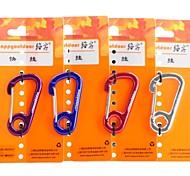 mousqueton porte-clés en forme de libération rapide de l'oreille (couleur aléatoire)